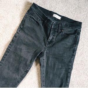 Madewell dark charcoal skinny skinny midrise jeans